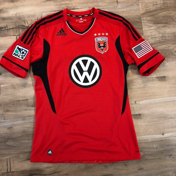 adidas Other - Adidas Red Charlie Davies D.C. United Jersey 177b915de